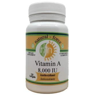 VITAMINA A 8000iu 120perlas (NUTRI-FORCE)